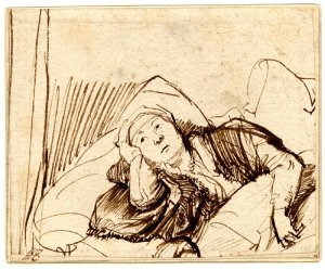 Rembrandt_Saskia_in_Bed
